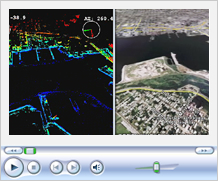 河川調査、Google Earth連動<br />(ILRIS-3D MC)